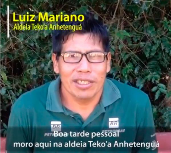 Depoimento Guarani: Luiz Mariano conta porque participa do projeto
