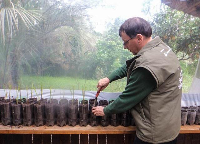 Trabalhos realizados no Viveiro da aldeia da Lomba do Pinheiro