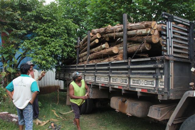 Aldeia Pindoty recebe material para construção de viveiro