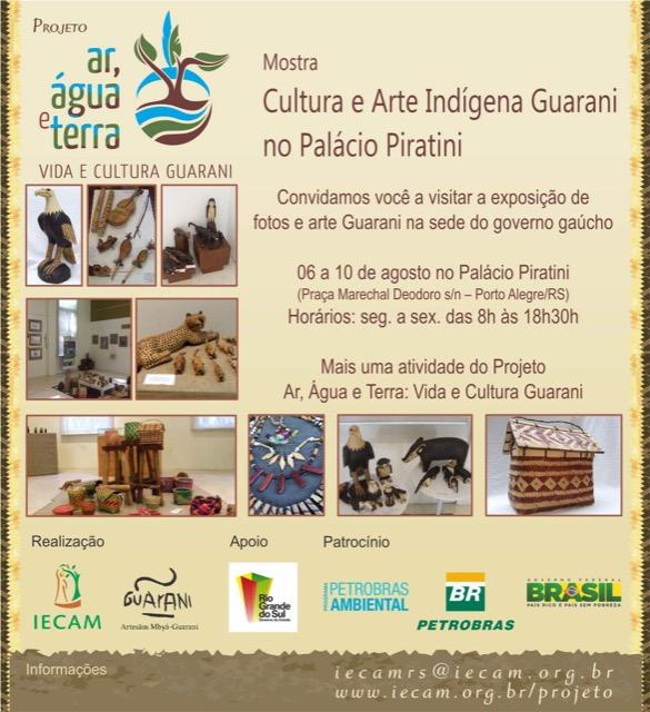 Aberta a exposição de arte indígena Guarani no Palácio Piratini