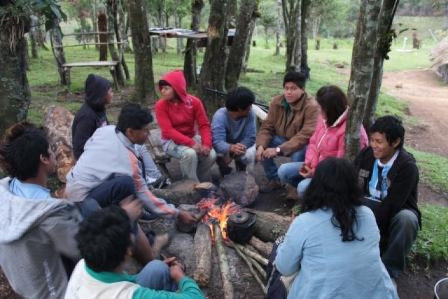 Encontro de Caciques na Aldeia Nhuu Porã - Campo Molhado - Maquiné