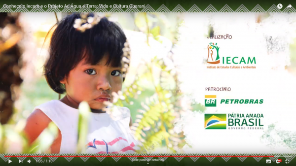 Vídeo | Conheça o Iecam e o Projeto Ar, Água e Terra: Vida e Cultura Guarani