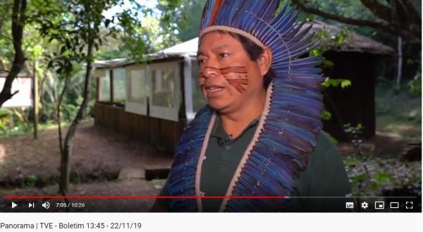 TVE realiza reportagem sobre a atuação do Projeto Ar, Água e Terra nas aldeias Guarani