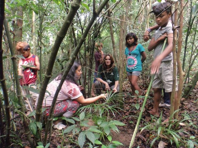 Atividades de Educação Ambiental na Escola Indígena da Aldeia Campo Bonito